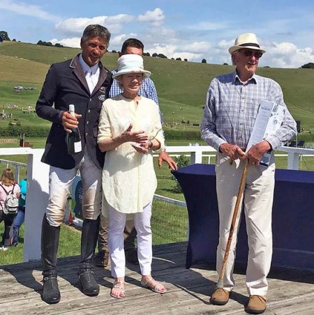 Andrew Nicholson with Swallow Springs' owners - Diana & Paul Ridgeon