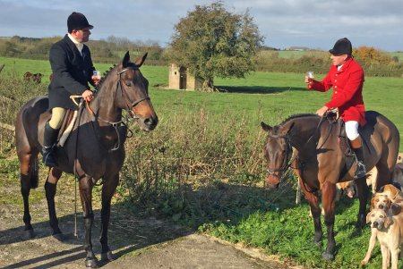 Milansbar (left) getting some exercise out hunting with Neil King
