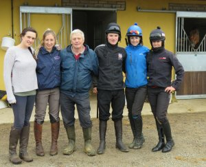 Most of the Sally Randell Racing team - l to r: Emma Owen, Sally Randell, Gerald Burton, Sam Burton, Kate Leahy and Brodie Hampson