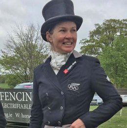 Jonelle after Badminton's dressage stage (Photo from Keyflow Feeds)