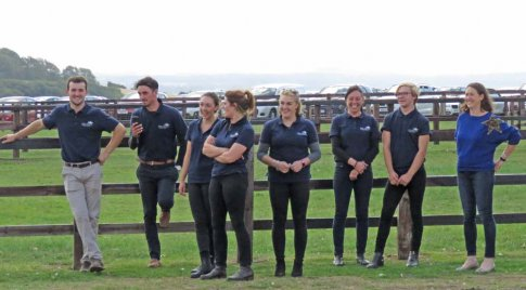 Stable staff with - at right - Clare King