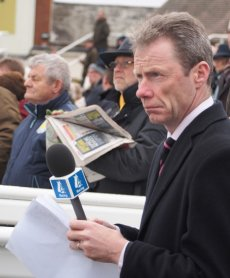 And there at Newbury was Mick Fitzgerald doing his day-time job