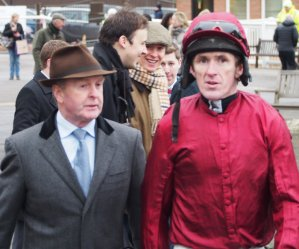 With trainer Jonjo O'Neill