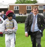 Frankie Dettori & Richard Hannon before the race