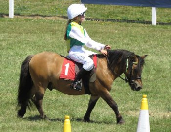 Lily Aspell wearing some famous racing colours...