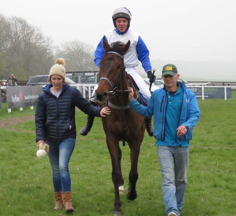Phil York comes back with eight lengths winner Timmie Roe - one of his three winners