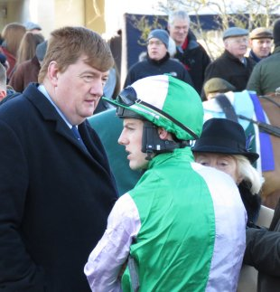 Hanlon in the parade ring at Leopardstown's Christmas Festival