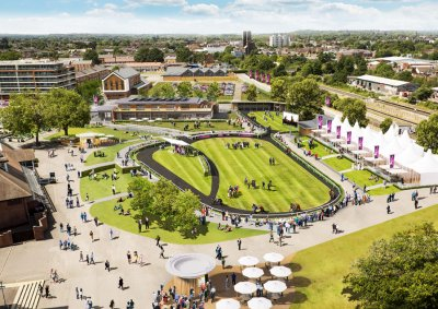 Artist's impression of the new parade ring area