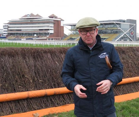 ...and with the iconic Newbury Racecourse stands in the background