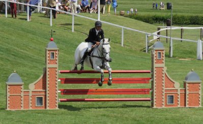 Nicholson and Avebury clear one of the Olympic fences at Barbury
