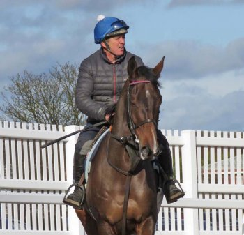 Paisley Park & Barry Fenton before their gallop