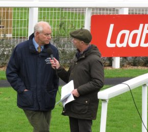 Richard Osgood (L) being interviewed by Luke Harvey