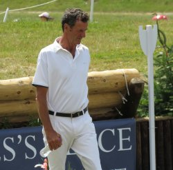 Sir Mark Todd walks the Barbury cross country course