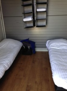 The grooms' bunks