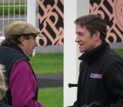 Nicky Henderson with Barry Geraghty