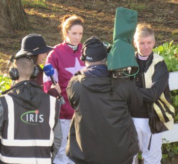 Rachael Blackmore & Noel Fehily interview before racing at Leopardstown