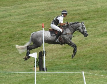 Lockeridge's Andrew Nicholson takes the marlborough.news fence on his grey Andrea BT4