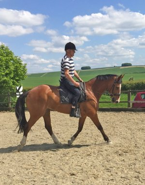 James Hussey with Kildare Kid - 'Tim' - training for the Barbury International Horse Trials