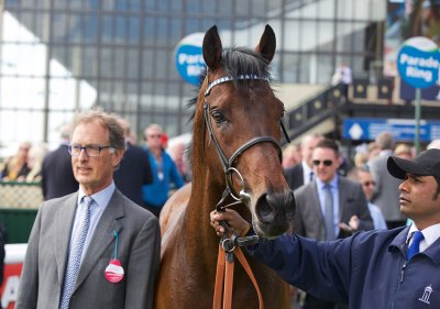 Roger Charlton with Al Kazeem after his victory at the Curragh in May