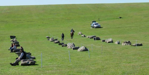 The sarsen stones beside the main arena - usually crowded with spectators