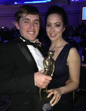 Trevor, Samantha and his Lester Stobart award