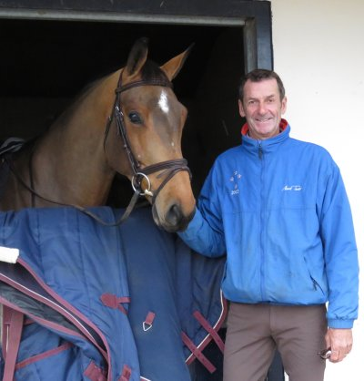 Sir Mark Todd - and friend