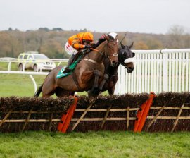 Thistlecrack takes the 2015 Long Distance Hurdle (Photo: Newbury Racecourse)