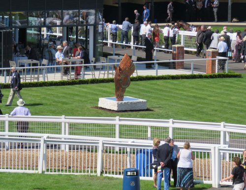 Drinking Horse in its setting at Newbury Racecourse