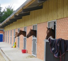 One of the two new stable blocks