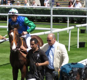 Brian Meehan with I'vegotthepower at Newbury in May