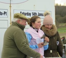 Novice riders winner Lilly Pinchin