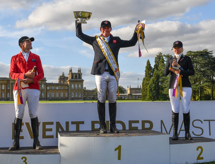 Oliver Townend (GB) wins the 2016 ERM series with Jonelle Price (NZ) second & Paul Tapner (AUS) third (Photo: Eventridermasters.tv)