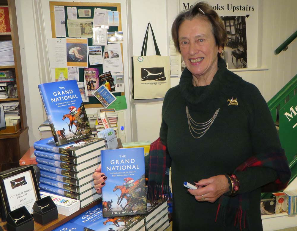 Anne Holland at the White Horse Bookshop for the launch of her book