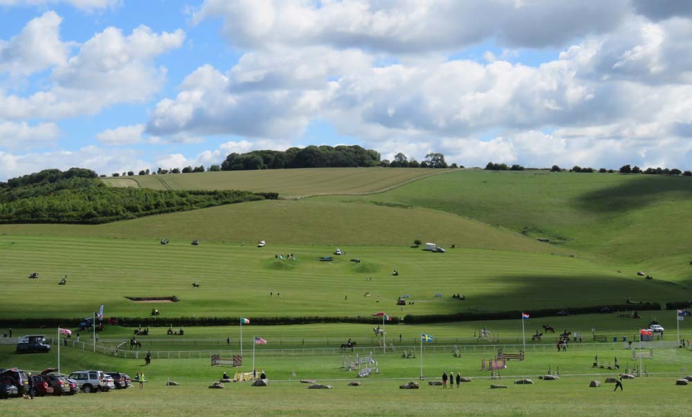 Not the normal Barbury Horse Trials - no trade stands, no spectators, only officials' cars - but good competition & great weather