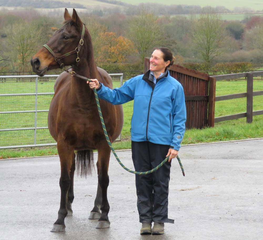 arina Casini with De Rasher Counter's dam Dedrunknmunky - who is in foal