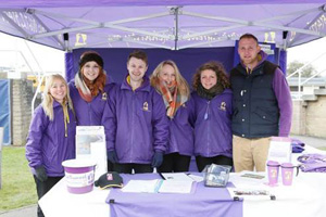 Some of the Greatwood team surviving a very cold and wet day's racing