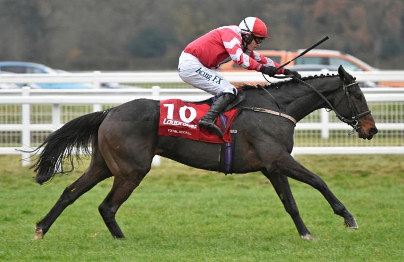 Total Recall on the way to winning the Ladbrokes Trophy (Photo: Newbury Racecourse)