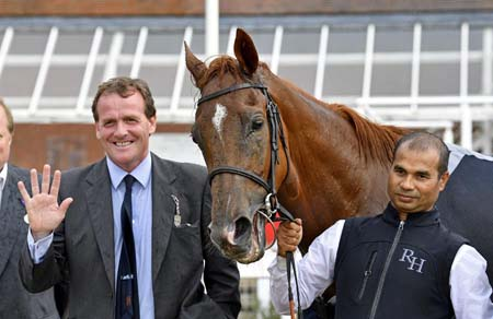 Richard Hannon - with 3-year-old Ritchie Valens