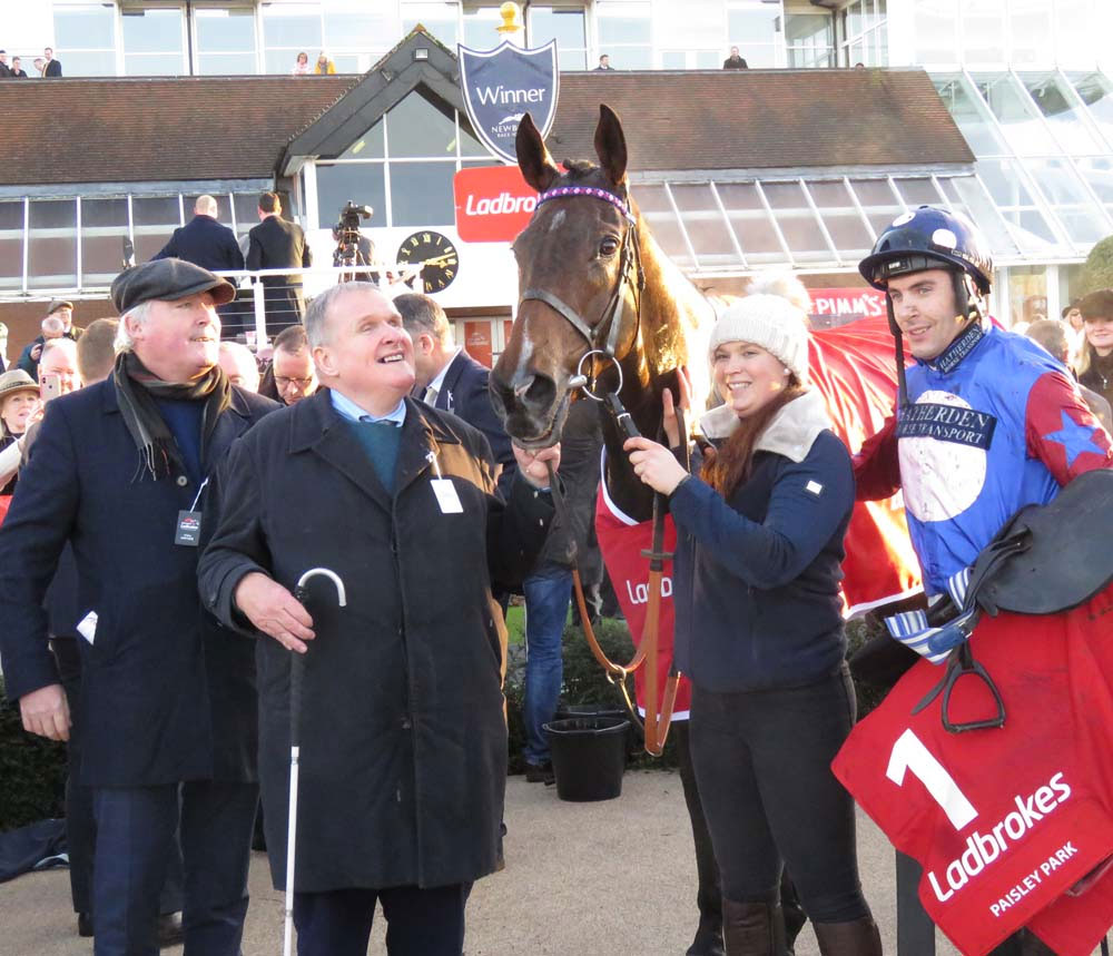 Victorious Paisley park with owner Andrew Gemmell, Laura Scrivener & Aiden Coleman