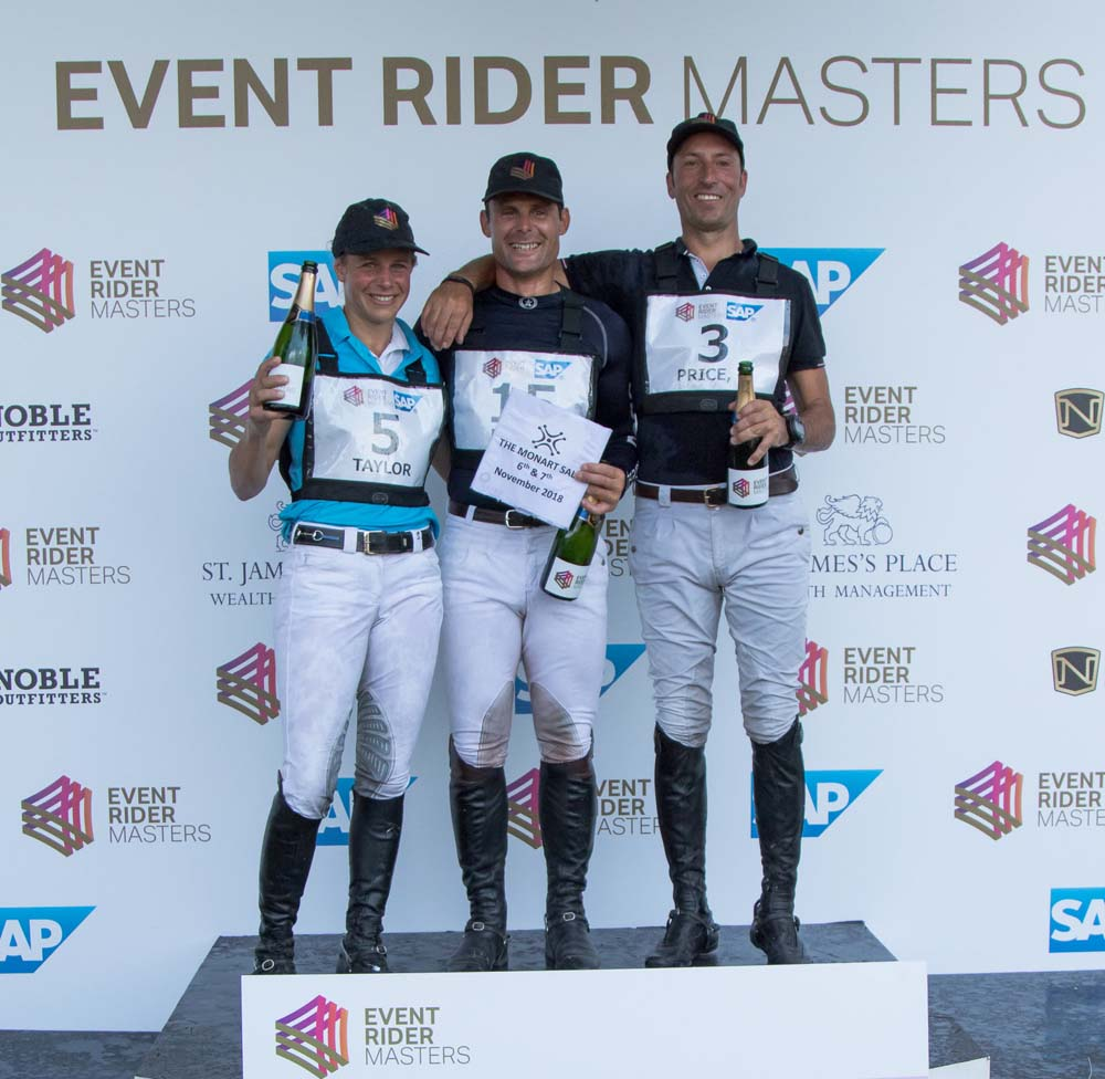 Tim Price (right) takes second place in ERM fifth leg (Photo copyright Anna Franklin/Event Rider Masters)