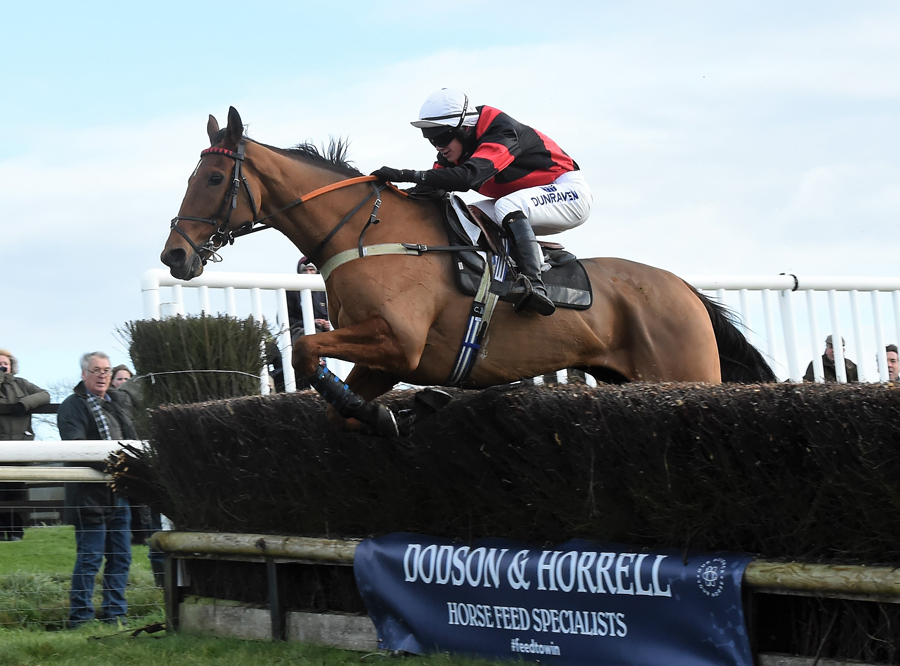 16-year-old Conor Brace riding William Money to victory at Barbury Racecourse (Photo: Phil Britt)