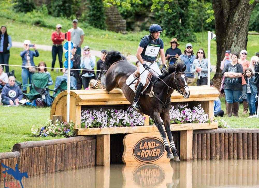 Tim Price & Xavier Faer on Kentucky's cross country course (Photo courtesy United States Eventing Association - via Twitter)