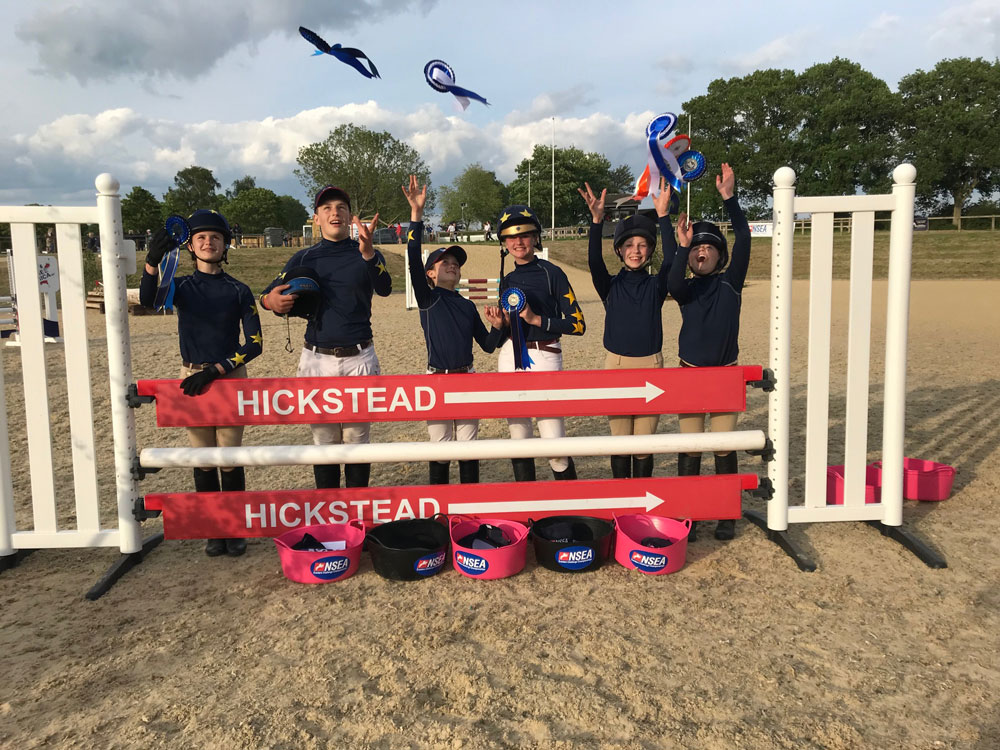Emily Pash, Charlie Ahl, Lucy Towle and Millie Turnell who came second in the 80 Eventers at Hickstead in May
