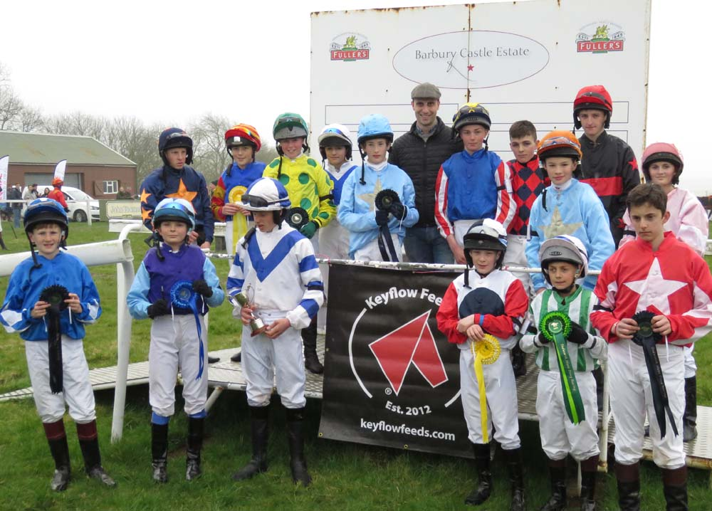 After the pony races - the jockeys with Keyflow's Cam Price
