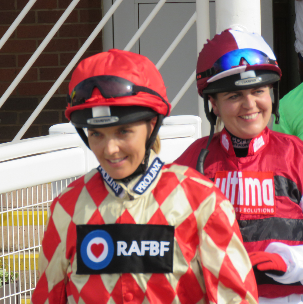 The walk from the weighing room: Victoria and Charlotte Plunkett