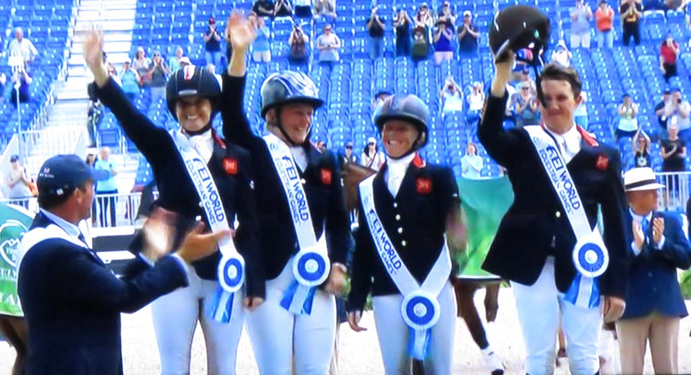 The victorious Great Britain team (pic off TV coverage)
