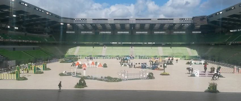 The showjumping arena